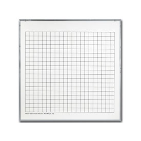 "Two-Sided Write and Wipe Board - 2"" Grid"
