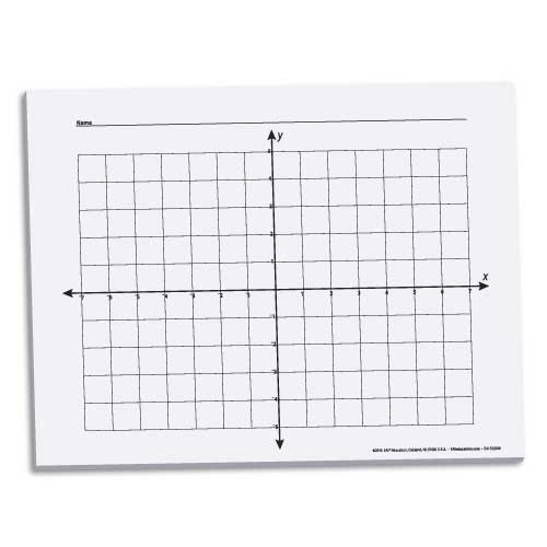 x y coordinate graph paper 58 100 sheets