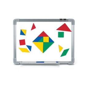 Magnetic QuietShape® Foam Tangrams - Set of 28