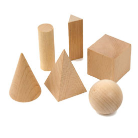 Wooden GeoModel® Solids Basic Set - 10 Sets of 6 in Tub
