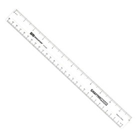 "12"" ShatterProof Ruler: Clear - Set of 100 in Tub"