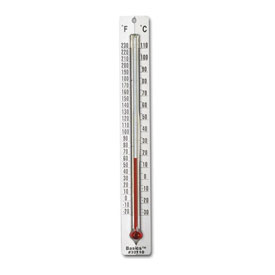 Dual Scale Aluminum Thermometer - Set of 10