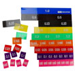 Transparent Decimal Tiles with Tray - Set of 51