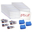 "Centimeter Grid Dry-Erase Boards: 9""x12"" Double-Sided Kit"