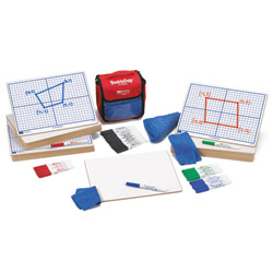 "X-Y Coordinate Grid Dry-Erase Boards: 9""x12"" Double-Sided Kit"