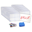 "X-Y Coordinate Grid Dry-Erase Boards: 9"" x 12"" Double-Sided Kit"