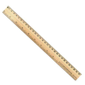 "12"" Wood Ruler with Metal Edge - Set of 144 in Tub"