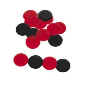 Counters: Black and Red - Set of 60