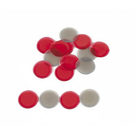 Transparent Counters: Black and Red - Set of 60