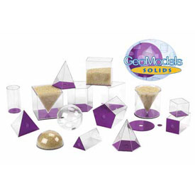 GeoModel® Jumbo Relational Solids - 10cm - Set of 17