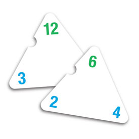 Three-Sided Flash Cards: Multiplication and Division