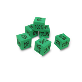 QuietShape® Foam Percentage Dice - Set of 6