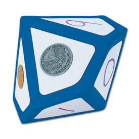 Jumbo Magnetic QuietShape® Foam Write-On/Wipe-Off 10-Sided Die