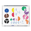 Magnetic QuietShape® Fraction Circles Numbered - Set of 51