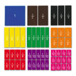 QuietShape® Foam Fraction Squares: Numbered - Set of 51