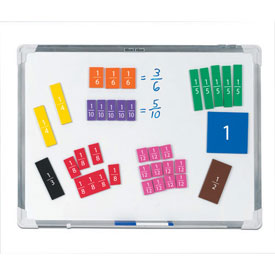 Magnetic QuietShape® Foam Fraction Squares: Numbered - Set of 51