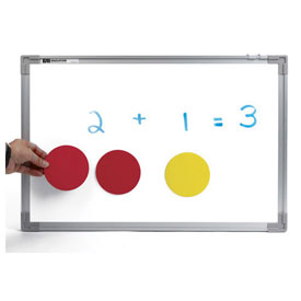 Jumbo Magnetic QuietShape® Foam Two-Color Counters - Set of 20