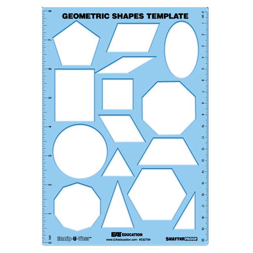 Geometric Shapes Template (Manip-U-View) - Common Core State ...