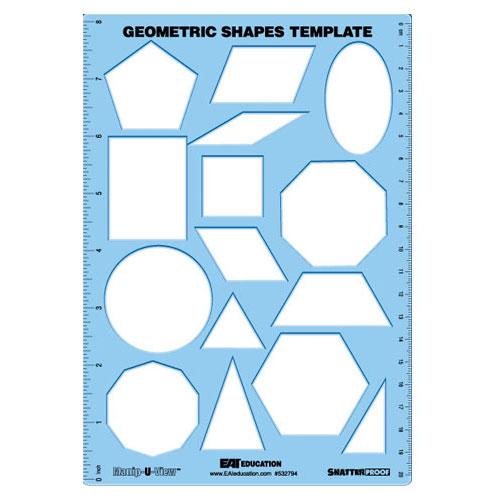 Geometric Shapes Template Manip U View Common Core
