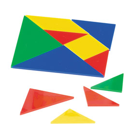 QuietShape® Foam Tangrams - Set of 30