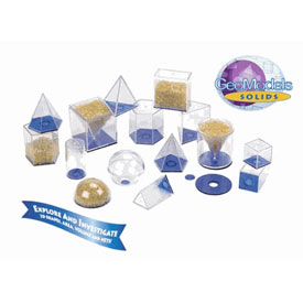 GeoModel® Relational Solids - 5cm: 10 Sets of 17 in Tub