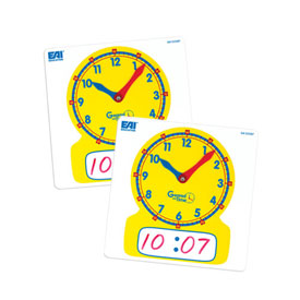 Geared for Time® Clock Dial - Write On Wipe Off - Set of 10
