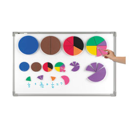 Jumbo Magnetic QuietShape® Fraction Circles - Set of 51