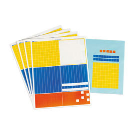 Base Ten Stickers - 20 Sets of 122