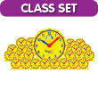 Geared for Time® Clock: Classroom Kit - 1 Demonstration and 24 Student Clocks