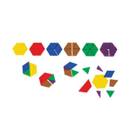 Fraction Pattern Blocks - Set of 700