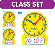 Geared for Time® Write-On/Wipe-Off Clocks Classroom Kit