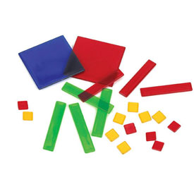 Transparent Algebra Tiles