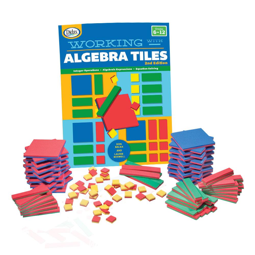 Algebra Tiles Clroom Kit Common Core State Standards Eai Education