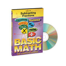 Basic Math: Subtracting Fractions - DVD
