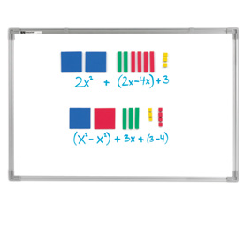 Magnetic QuietShape® Foam Algebra Tiles - Standard Set of 70