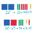 Magnetic QuietShape® Foam Algebra Tiles - Set of 70