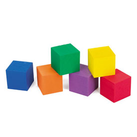 "QuietShape® Foam Color Cubes: 1"" - Set of 510 in Tub"