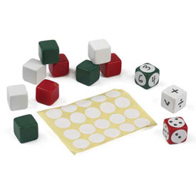 Blank Dice and Labels - Set of 144