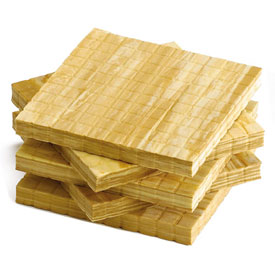 QuietShape® Foam Base Ten Flats: Faux Wood - Set of 10