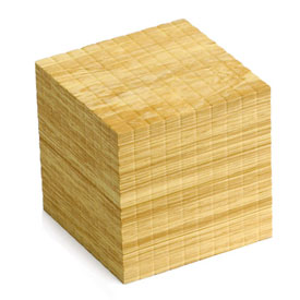QuietShape® Foam Base Ten Thousand Cube: Faux Wood - Set of 25