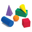 QuietShape® GeoModel® Jumbo Solids: Assorted Colors - Set of 6