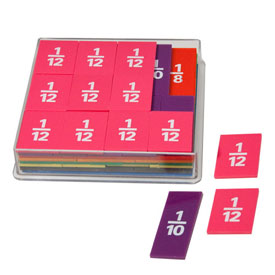Deluxe Fraction Squares: Numbered - Set of 51
