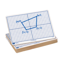 "X-Y Coordinate Grid Dry-Erase Boards: 9""x12"" Single-Sided Set of 10"