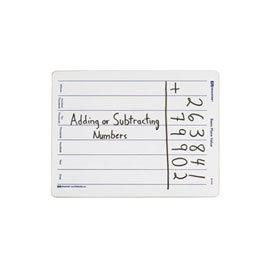 Basic Place Value Marker Boards: Two-Sided: Set of 10