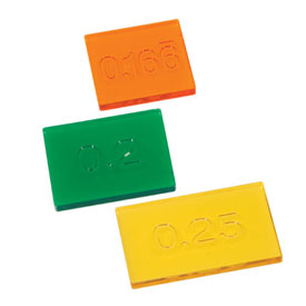 Engraved Transparent Decimal Tiles - Set of 51