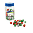 Fraction Dice: Red, White, and Green - Set of 144