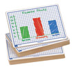 "Centimeter Grid Dry-Erase Boards: 9""x12"" Single-Sided Set of 100"