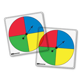 Transparent/Student Spinners - 4 Color: Set of 5
