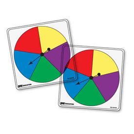 Transparent/Student Spinners - 5 Color: Set of 5