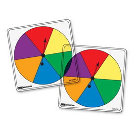 Transparent/Student Spinners - 6 Color: Set of 5